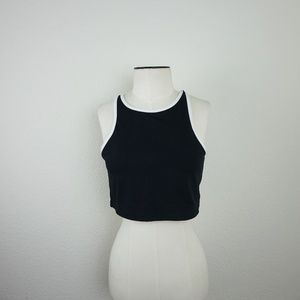 f35eac23b59 Fabletics Tops | Moorea Bra Black White Trim Crop Top | Poshmark